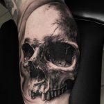 Tatuagens sombreadas caveiras