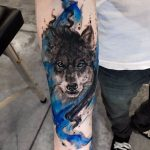 tatoo de lobo masculina