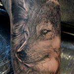tatoo de lobo no braco