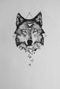 tatuagem de lobo contorno