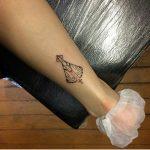 tatuagem nossa senhora aparecida no pe