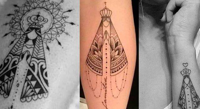 nossa senhora aparecida Tattoo Em vários Lugares