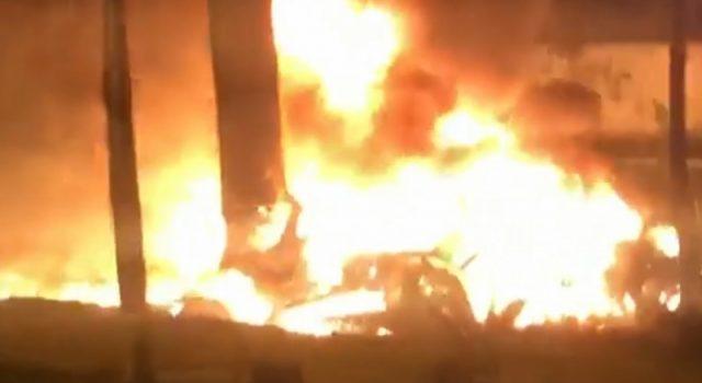 Aeronave cai em SP, arde e faz 1 morto