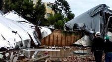 Ciclone em SC deixa rastro de destruição em várias escolas